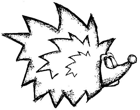 картинки нарисованный ёжик