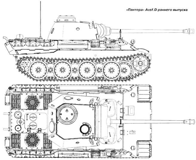 на танке «Пантера» он не